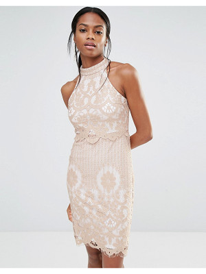 MISSGUIDED Lace Overlay Dress