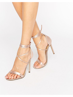 MISSGUIDED Lace Up Barely There Heeled Sandals