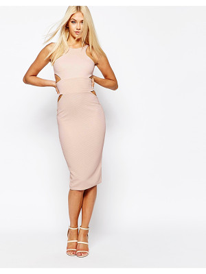 MISSGUIDED Midi Bodycon Dress with Cut Out Sides