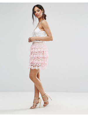 MISSGUIDED Missguded Premium Lace Ruffle Detail Mini Skirt