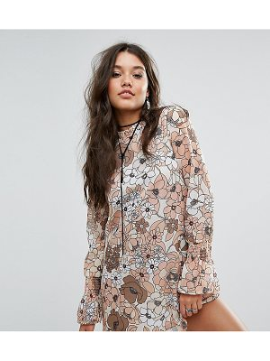 MISSGUIDED Oversized Floral Print Shift Dress
