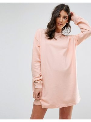 MISSGUIDED Oversized Sweater Dress Nude