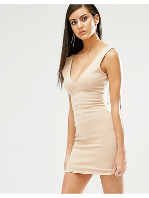 MISSGUIDED Plunge Neck Bodycon Mini Dress