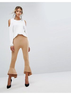 MISSGUIDED Ponte Ruffle Flare Pant