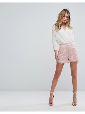 MISSGUIDED Scallop Trim Shorts