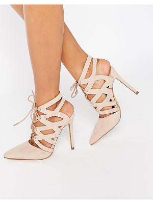 MISSGUIDED Strappy Lace Up Pumps