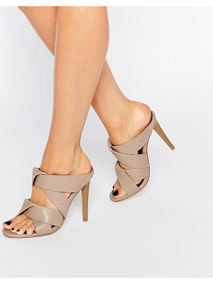 MISSGUIDED Twist Strap Slip On Heeled Mule