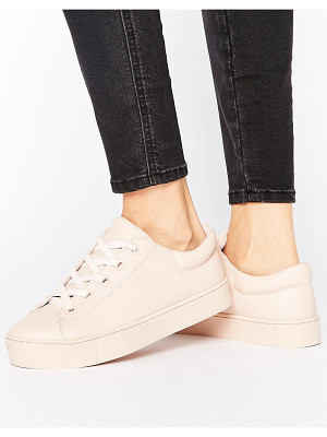 Monki Lace Up Flatform Sneaker