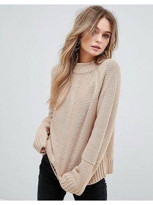 MOON RIVER Back Slit Detail Sweater