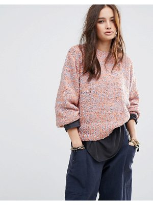 Moon River Cocoon Sleeve Textured Sweater