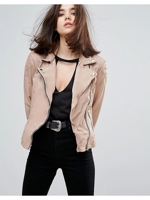 MUUBAA Indus Leather Biker Jacket