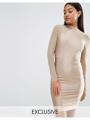 NAANAA Bodycon Dress With Mesh Sleeves