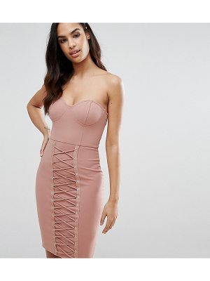 NAANAA Corset Midi Dress With Lace Up Panelling