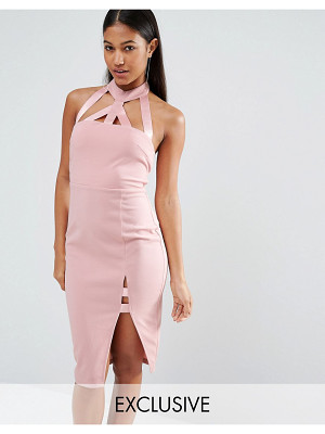 NaaNaa Midi Pencil Dress With Strap Detail