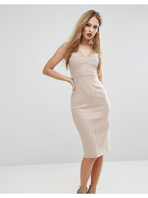 NAANAA Structured Pencil Dress With Bust Cup Detail