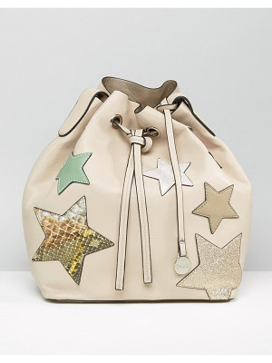 NALI Beige Star Bucket Bag
