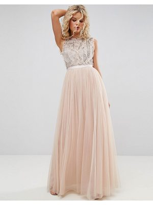NEEDLE & THREAD Embellished Gown With Frill Detail