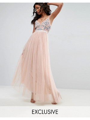 NEEDLE & THREAD Whisper Embroidered Tulle Maxi Dress