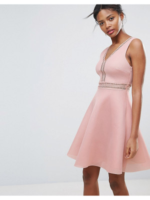NEW LOOK Airtex Ladder Detail Skater Dress