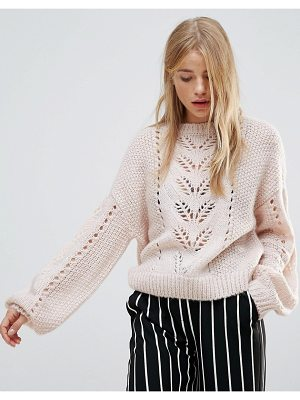 NEW LOOK Balloon Sleeve Knit Sweater