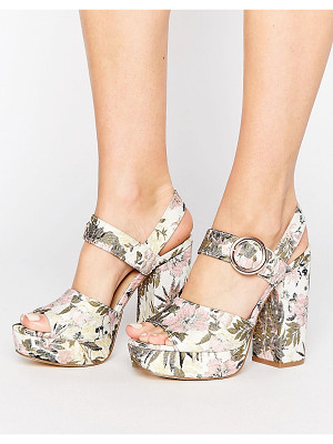 NEW LOOK Botanical Brocade Platform Heel Sandal