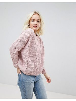 NEW LOOK Chenille Knitted Crop Sweater
