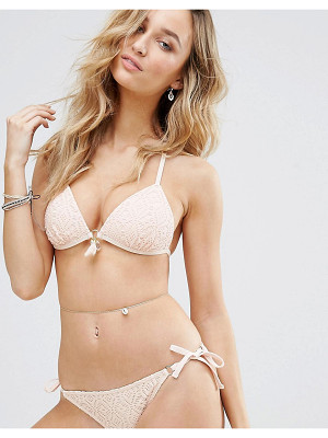New Look Crochet Molded Triangle Bikini Top