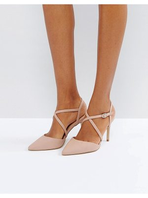 NEW LOOK Cross Strap Heeled Court Shoe