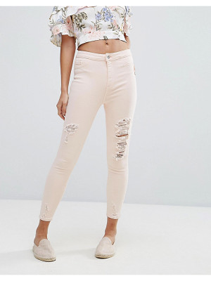 New Look Distressed Knee Skinny Jean