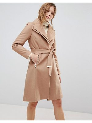 NEW LOOK Double Waterfall Belted Coat