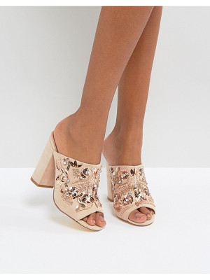 NEW LOOK Embellished Heeled Mule Sandals