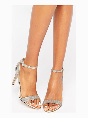 New Look Gold Barely There Heel