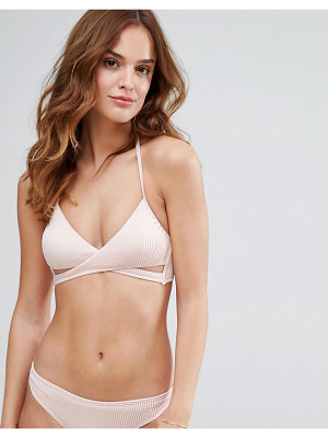 New Look Rib Wrap Around Bikini Top