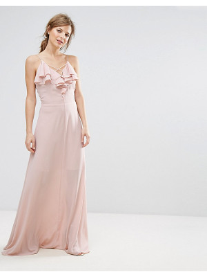 NEW LOOK Ruffle Front Maxi Dress