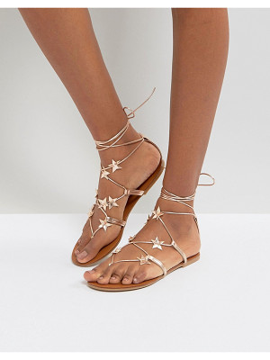 NEW LOOK Star Lace Up Flat Sandal