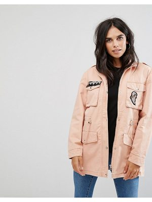 Noisy May Lex Cargo Jacket with Patches