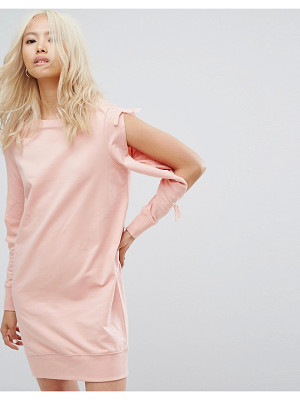 Noisy May Sweatshirt Dress with Open Sleeve Detail