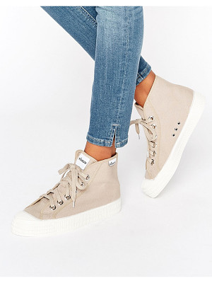 NOVESTA Star Dribble Classic Hightop Sneakers In Cream