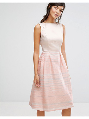 OASIS Organza Stripe Midi Skater Dress
