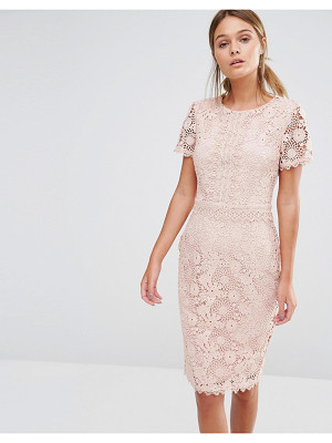 OASIS Premium Floral Lace Pencil Dress
