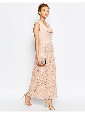 Oasis premium lace cowl neck maxi dress