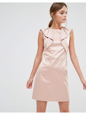 Oasis Satin Ruffle Shift Dress