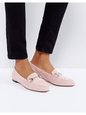 OFFICE Blush Suede Loafers