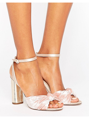 OFFICE Blush Velvet Heeled Sandals