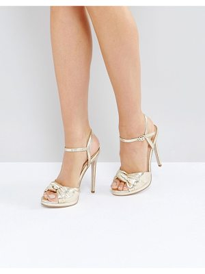 OFFICE Hold Tight Gold Platform Sandals
