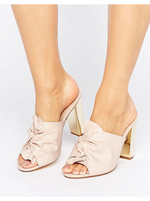 Office Spice Knot Heeled Mules