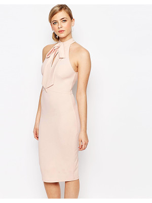 OH MY LOVE Bow Cut Out Midi Dress