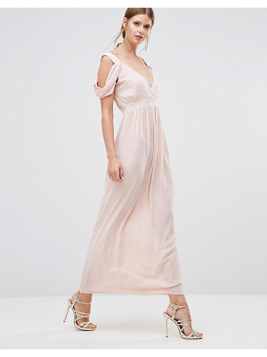Oh My Love Cowl Shoulder Maxi Dress