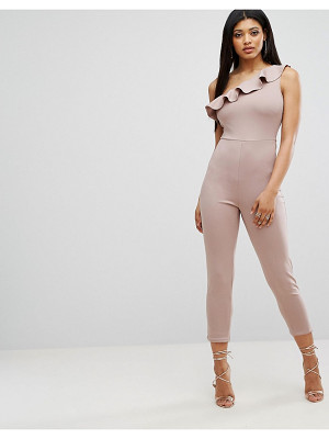 OH MY LOVE Frill One Shoulder Jumpsuit