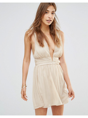 Oh My Love Grecian Mini Plunge Dress